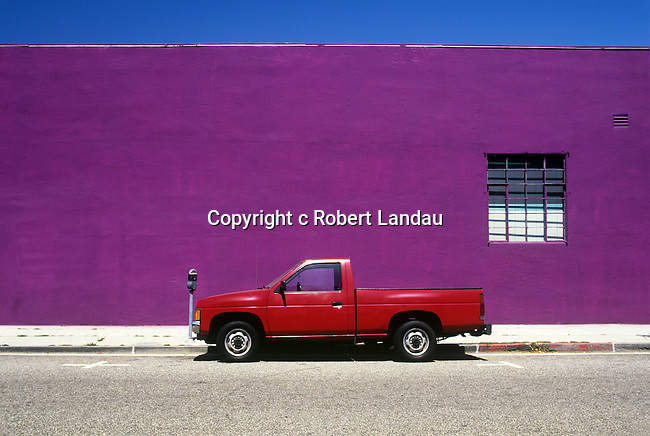 Parked Red truck, West Los Angeles, 2009