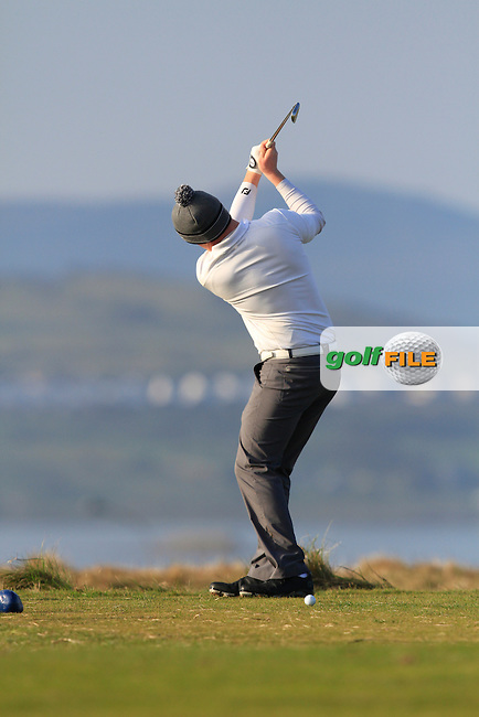 Eanna Griffin (Waterford) during Matchplay Semi-Finals on April 7th 2015 for the 2015 West of Ireland Open Championship, Co. Sligo, Golf Club, Rosses Point, Sligo, Ireland.<br /> Picture: Thos Caffrey / Golffile