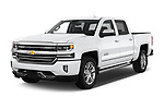 2017 Chevrolet Silverado-1500 High-Country-Crew 4 Door Pickup Angular Front stock photos of front three quarter view