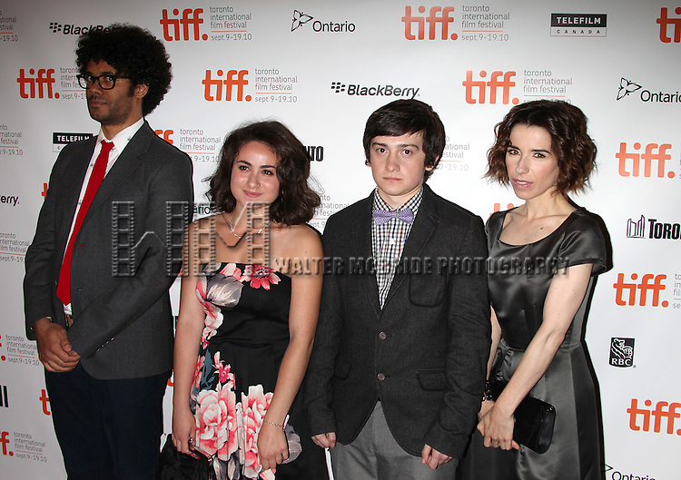 """Richard Ayoade, Yasmin Paige, Craig Roberts, Sally Hawkins.attending the """"SUBMARINE"""" Gala Premiere during the 35th Toronto International Film Festival at the Elgin Theatre on September 12, 2010 in Toronto, Canada..© Walter McBride /"""