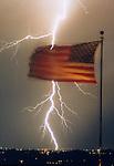 A lightening storm moves through Phoenix, AZ © Michael Brands, 2008