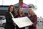 Pink Cheque Presentation