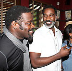 Phillip Boykin & Norm Lewis.attending the celebration for Norm Lewis receiving a Caricature on Sardi's Hall of Fame in New York City on 5/30/2012