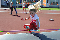 ATLETIEK: HEERENVEEN: 19-09-2015, Athletics Champs AV Heerenveen, Linda de Vries (#121 | 8 jaar), ©foto Martin de Jong