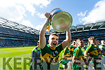 Dylan Casey Kerry Minors celebrate with the Tom Markham Cup after defeating Derry in the All-Ireland Minor Footballl Final in Croke Park on Sunday.
