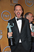 Aaron Paul at the 20th Annual Screen Actors Guild Awards at the Shrine Auditorium.<br /> January 18, 2014  Los Angeles, CA<br /> Picture: Paul Smith / Featureflash