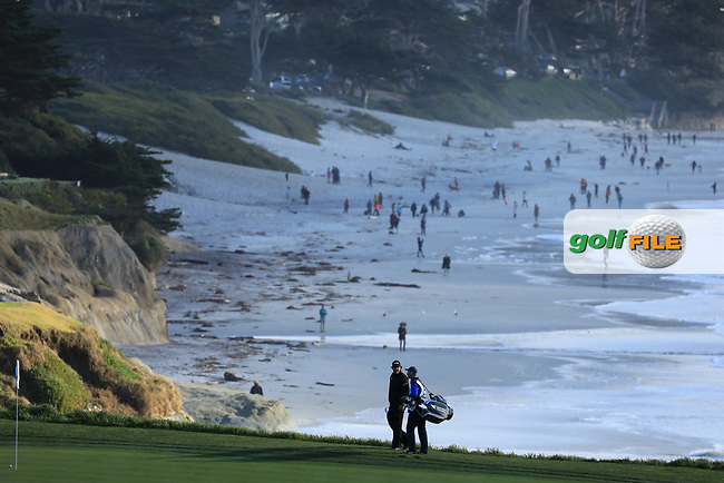 Phil Mickelson (USA) during the final round of the AT&T Pro-Am, Pebble Beach Golf Links, Monterey, USA. 10/02/2019<br /> Picture: Golffile | Phil Inglis<br /> <br /> <br /> All photo usage must carry mandatory copyright credit (© Golffile | Phil Inglis)