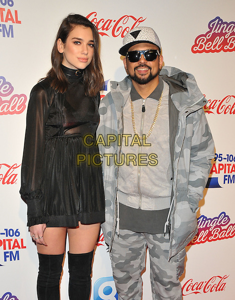 Dua Lipa and Sean Paul at the Capital FM Jingle Bell Ball, The London O2 Arena, Peninsula Square, London, England, UK, on Saturday 03 December 2016. <br /> CAP/CAN<br /> &copy;CAN/Capital Pictures