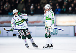 Stockholm 2014-03-05 Bandy SM-semifinal 3 Hammarby IF - V&auml;ster&aring;s SK :  <br /> V&auml;ster&aring;s Aksel Ekblom och V&auml;ster&aring;s Johan Esplund ser nedst&auml;mda ut efter slutsignalen<br /> (Foto: Kenta J&ouml;nsson) Nyckelord:  VSK Bajen HIF depp besviken besvikelse sorg ledsen deppig nedst&auml;md uppgiven sad disappointment disappointed dejected