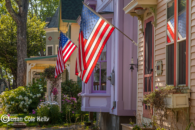 Victorian cottages in Bayside, Northport, ME