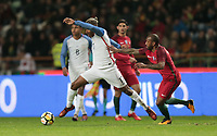 Leiria, Portugal - Tuesday November 14, 2017: Juan Agudelo during an International friendly match between the United States (USA) and Portugal (POR) at Estádio Dr. Magalhães Pessoa.