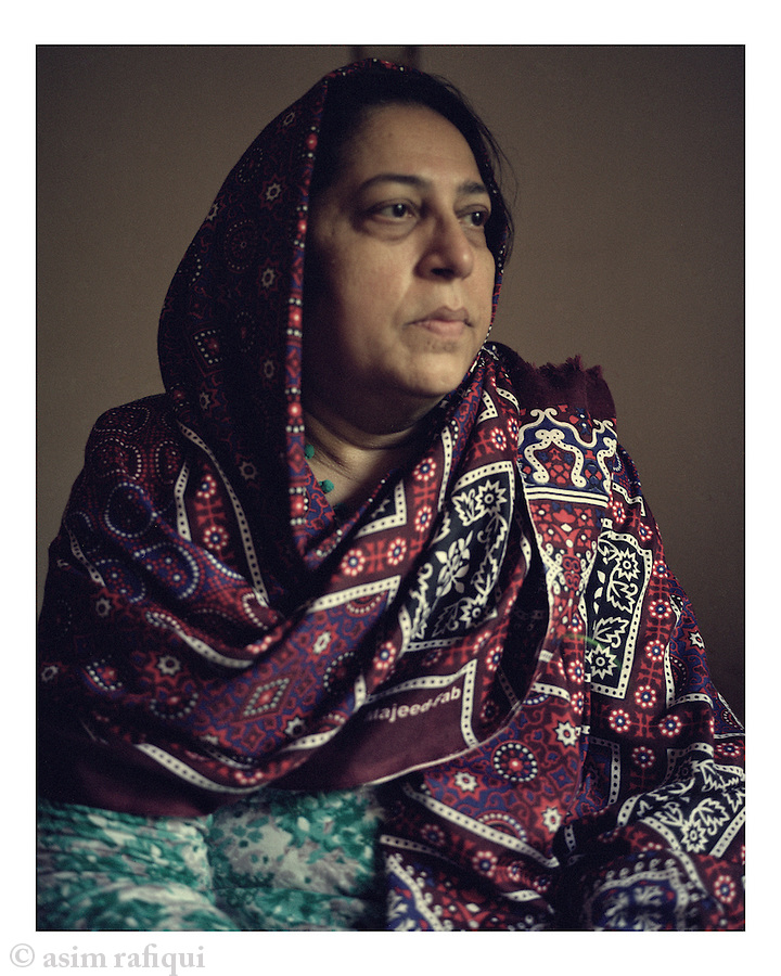 Portrait of Shahina Parveen, mother of Shahawar Matin Siraj, a 22-year old Pakistani-born resident of Astoria, New York. Shahawar Matin was entrapped into joining a terror plot orchestrated and designed by two NYPD informants James Elshafay and Dawadi.