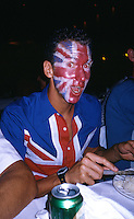 10 NOV 2002 - CANCUN, MEX - Richard Stannard (GBR) - World Triathlon Championships post race party .(PHOTO (C) NIGEL FARROW)