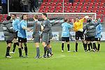 Sandhausen 05.12.2009, 3. Liga SV Sandhausen - FC Ingolstadt 04, Jubel bei den Ingolst&auml;dter nach dem Sieg<br /> <br /> Foto &copy; Rhein-Neckar-Picture *** Foto ist honorarpflichtig! *** Auf Anfrage in h&ouml;herer Qualit&auml;t/Aufl&ouml;sung. Ver&ouml;ffentlichung ausschliesslich f&uuml;r journalistisch-publizistische Zwecke. Belegexemplar erbeten.