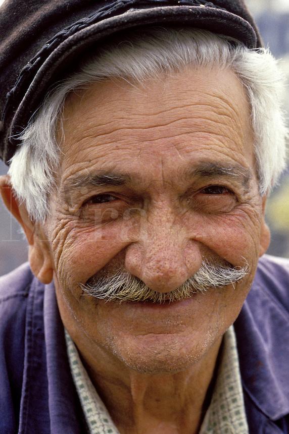 Senior man, Greece, close-up