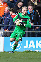 Jonathan Mitchell of Luton Town during the Sky Bet League 2 match between Barnet and Luton Town at The Hive, London, England on 28 March 2016. Photo by David Horn.