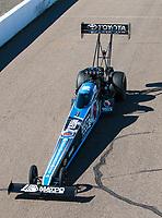 Feb 23, 2019; Chandler, AZ, USA; NHRA top fuel driver Antron Brown during qualifying for the Arizona Nationals at Wild Horse Pass Motorsports Park. Mandatory Credit: Mark J. Rebilas-USA TODAY Sports