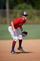 Travis Odom during the WWBA World Championship at the Roger Dean Complex on October 21, 2018 in Jupiter, Florida.  Travis Odom is a shortstop from Franklin, Tennessee who attends Christ Presbyterian Academy and is committed to Auburn.  (Mike Janes/Four Seam Images)