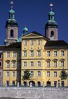 Austria, Innsbruck, Tirol, St. Jacob's Cathedral in the city of Innsbruck.