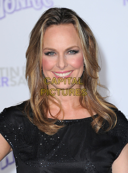 "MELORA HARDIN .attending the Paramount Pictures' L.A. Premiere of ""Justin Bieber: Never Say Never"" held at The Nokia Theater Live in Los Angeles, California, USA,.February 8th 2011..portrait headshot black  pink lipstick make-up smiling .CAP/RKE/DVS.©DVS/RockinExposures/Capital Pictures."