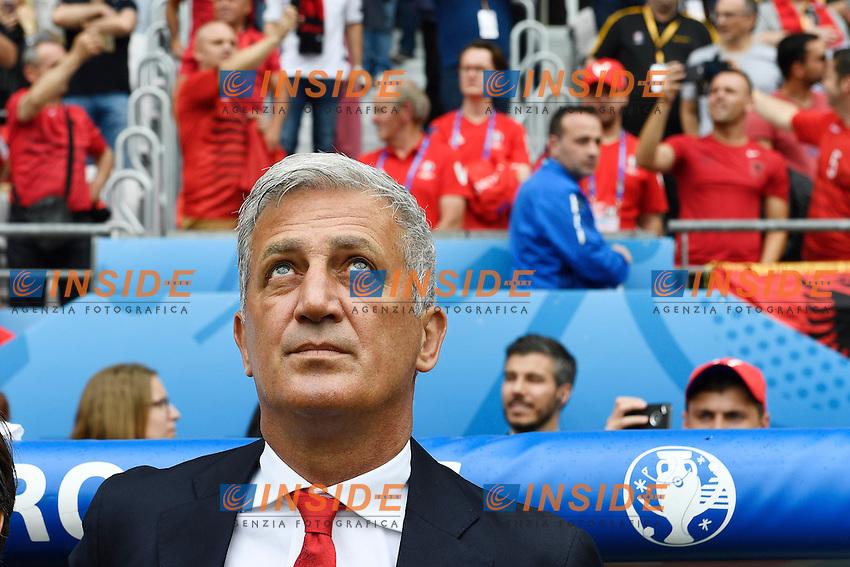 Vladimir Petkovic Svizzera <br /> Lens 11-06-2016 Stade Bollaert-Delelis football Euro2016 Albania - Switzerland  / Albania - Svizzera Group Stage Group A. Foto Alain Grosclaude /freshfocus / Insidefoto