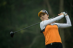 Ji Hyun Oh of South Korea tees off at the 14th hole during Round 4 of the World Ladies Championship 2016 on 13 March 2016 at Mission Hills Olazabal Golf Course in Dongguan, China. Photo by Victor Fraile / Power Sport Images