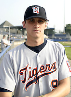 July 22, 2004:  Andrew Kown of the Oneonta Tigers, Short-Season Low-A NY-Penn League affiliate of the Detroit Tigers, during a game at Dwyer Stadium in Batavia, NY.  Photo by:  Mike Janes/Four Seam Images