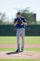 Kansas City Royals starting pitcher Zach Haake (26) gets ready to deliver a pitch during an Instructional League game against the Chicago White Sox at Camelback Ranch on September 25, 2018 in Glendale, Arizona. (Zachary Lucy/Four Seam Images)