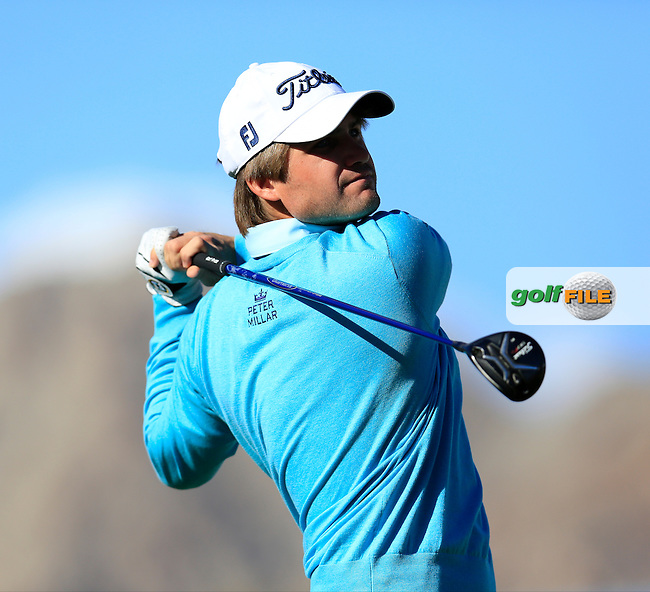 Bobby Wyatt (USA) tees off the 1st tee during Saturday's Round 3 of the 2017 CareerBuilder Challenge held at PGA West, La Quinta, Palm Springs, California, USA.<br /> 21st January 2017.<br /> Picture: Eoin Clarke | Golffile<br /> <br /> <br /> All photos usage must carry mandatory copyright credit (&copy; Golffile | Eoin Clarke)