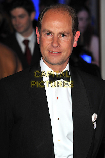 HRH Prince Edward  .The Paralympic Ball in aid of the British Paralympic Association & the Agitos Foundation, Grosvenor House Hotel, Park Lane, London, England..September 5th, 2012.headshot portrait royal royalty black tuxedo white shirt bow tie.CAP/CJ.©Chris Joseph/Capital Pictures.