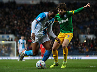 Blackburn Rovers' Ryan Nyambe takes on Preston North End's Ben Pearson<br /> <br /> Photographer Alex Dodd/CameraSport<br /> <br /> The EFL Sky Bet Championship - Blackburn Rovers v Preston North End - Saturday 11th January 2020 - Ewood Park - Blackburn<br /> <br /> World Copyright © 2020 CameraSport. All rights reserved. 43 Linden Ave. Countesthorpe. Leicester. England. LE8 5PG - Tel: +44 (0) 116 277 4147 - admin@camerasport.com - www.camerasport.com