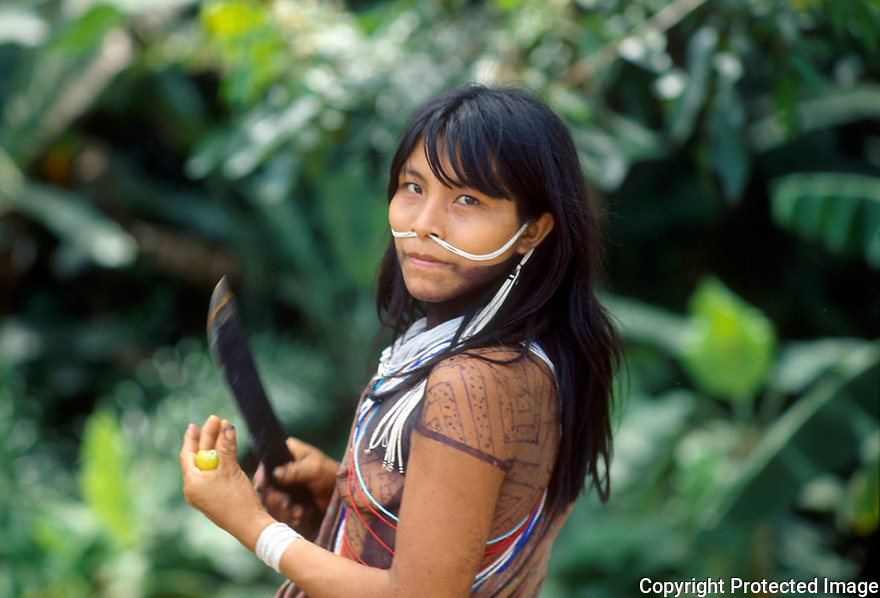 Marubo indigenous people, Amazon rainforest, Brazil.