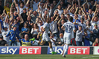 Leeds United's Kemar Roofe celebrates scoring his sides first goal <br /> <br /> Photographer Alex Dodd/CameraSport<br /> <br /> The EFL Sky Bet Championship - Leeds United v Preston North End - Saturday 8th April 2017 - Elland Road - Leeds<br /> <br /> World Copyright &copy; 2017 CameraSport. All rights reserved. 43 Linden Ave. Countesthorpe. Leicester. England. LE8 5PG - Tel: +44 (0) 116 277 4147 - admin@camerasport.com - www.camerasport.com