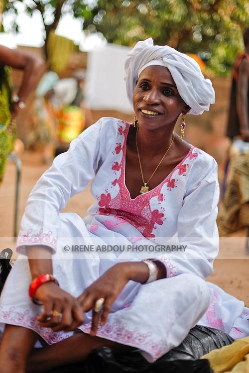 A Fulani woman attends a baptism in Ouagadougou, Burkina Faso.