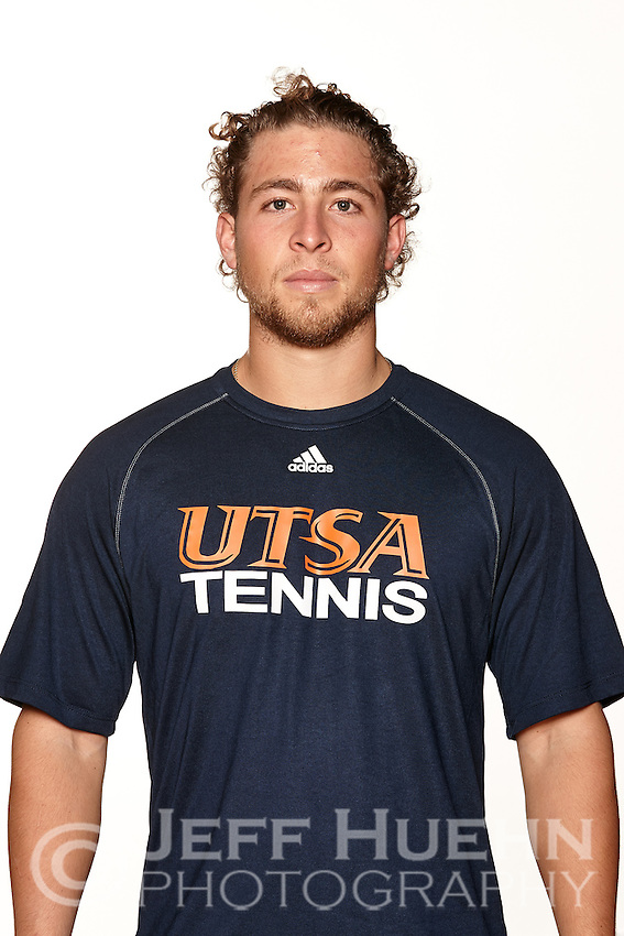 SAN ANTONIO, TX - JANUARY 12, 2015: The University of Texas at San Antonio Roadrunners Men's Tennis Team & Individual pictures. (Photo by Jeff Huehn)