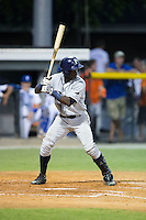 Emilio Gustave (39) of the Princeton Rays at bat against the Burlington Royals at Burlington Athletic Stadium on August 12, 2016 in Burlington, North Carolina.  The Royals defeated the Rays 9-5.  (Brian Westerholt/Four Seam Images)