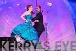 Texas Rose Kelly Gaetano line dancing with presenter Dáithí Ó Sé during the Monday night Rose Selection.