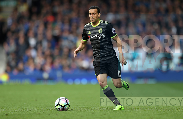 Pedro of Chelsea during the English Premier League match at Goodison Park , Liverpool. Picture date: April 30th, 2017. Photo credit should read: Lynne Cameron/Sportimage