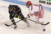 Johnathan Kovacevic (Merrimack - 8), Chad Krys (BU - 5) - The visiting Merrimack College Warriors defeated the Boston University Terriers 4-1 to complete a regular season sweep on Friday, January 27, 2017, at Agganis Arena in Boston, Massachusetts.The visiting Merrimack College Warriors defeated the Boston University Terriers 4-1 to complete a regular season sweep on Friday, January 27, 2017, at Agganis Arena in Boston, Massachusetts.