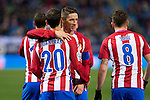 "Atletico de Madrid's Juanfran Torres, Fernando Torres, Saul Iniguez during the match of ""Copa del Rey"" between Atletico de Madrid and Gijuelo CF at Vicente Calderon Stadium in Madrid, Spain. december 20, 2016. (ALTERPHOTOS/Rodrigo Jimenez)"