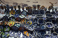 Mexican pottery for sale in the Spanish colonial mining town of Concordia near Mazatlan, Sinaloa, Mexico..