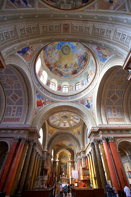 Interior of the Neo Classical Basilica, Eger, Hungary