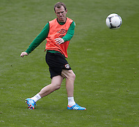 POLAND - Gdynia - 07 JUNE 2012 - Republic of Ireland Training Session at Gdynia. Ireland player Glenn Whelan.