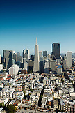 USA, California, San Francisco, an elevated view of downtown San Francisco as seen from the top of Coit Tower, Telegraph Hill