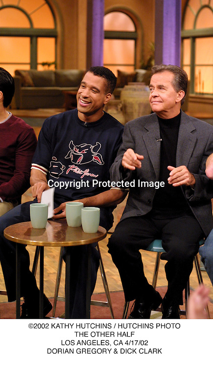 ©2002 KATHY HUTCHINS / HUTCHINS PHOTO.THE OTHER HALF.LOS ANGELES, CA 4/17/02.DORIAN GREGORY & DICK CLARK