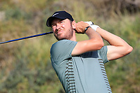 Chris Wood (ENG) during the third round of the NBO Open played at Al Mouj Golf, Muscat, Sultanate of Oman. <br /> 17/02/2018.<br /> Picture: Golffile | Phil Inglis<br /> <br /> <br /> All photo usage must carry mandatory copyright credit (&copy; Golffile | Phil Inglis)
