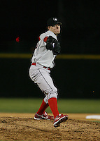 2007:  Matt Smith of the Ottawa Lynx delivers a pitch vs. the Rochester Red Wings in International League baseball action.  Photo By Mike Janes/Four Seam Images