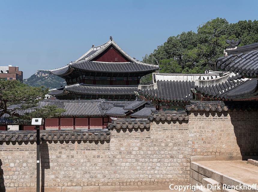 Arbeitsr&auml;ume des Kronprinzes, Seongjeonggak, im Changdeokgung Palast, Seoul, S&uuml;dkorea, Asien, UNESCO-Weltkulturerbe<br /> working quarter of crown prince in palace Changdeokgung,  Seoul, South Korea, Asia UNESCO world-heritage