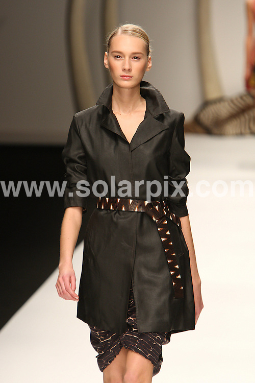 **ALL ROUND PICTURES FROM SOLARPIX.COM**                                             **WORLDWIDE SYNDICATION RIGHTS**                                                                                  Caption: The Kinder Aggugini catwalk runway show as part of London Fashion Week 2010. London, UK. 19 September 2010                                                                              This pic: Kinder Aggugini catwalk show                                                                                             JOB REF: 12137 MLW       DATE: 19_09_2010                                                           **MUST CREDIT SOLARPIX.COM OR DOUBLE FEE WILL BE CHARGED**                                                                      **MUST AGREE FEE BEFORE ONLINE USAGE**                               **CALL US ON: +34 952 811 768 or LOW RATE FROM UK 0844 617 7637**