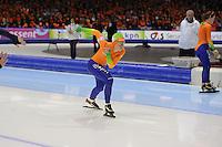 SCHAATSEN: HEERENVEEN: IJsstadion Thialf, 12-01-2013, Seizoen 2012-2013, Essent ISU EK allround, 500m Ladies, Diane Valkenburg (NED), ©foto Martin de Jong
